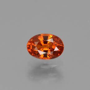 Spessartite Garnet 8 76ct orange spessartite garnet 0 8 carat oval from mozambique
