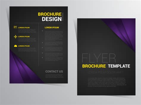 black brochure template black brochure template flyer brochure template design
