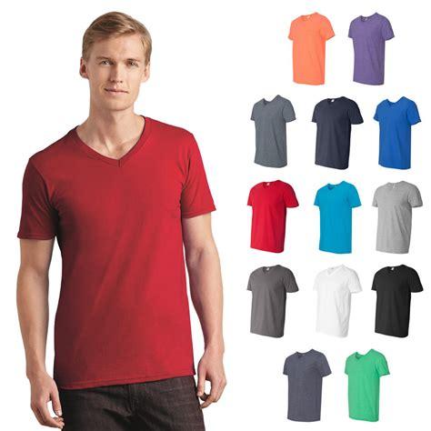 Kaospolos Gildan Softstyle V Neck new mens gildan softstyle plain cotton v neck t shirt xs 3xl 64v00 ebay
