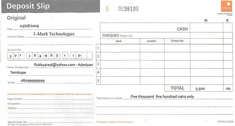 bank deposit form template template bank deposit receipt bank of america autos post