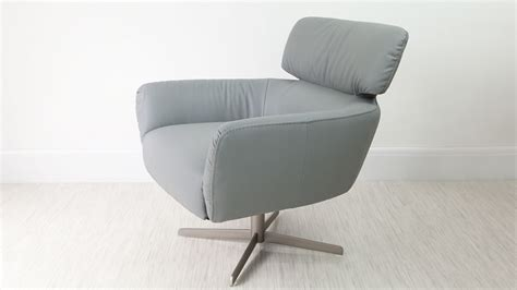 Small Leather Armchair Uk by Small Leather Armchair Swivel Brushed Base Uk