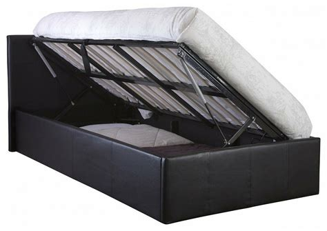 side lift  ft ottoman bed single faux leather storage