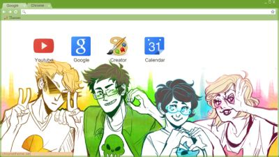 chrome themes homestuck homestuck chrome themes themebeta