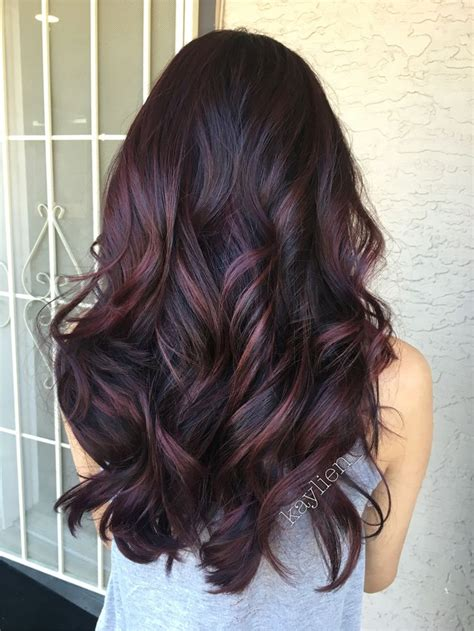 pictures of mahogany hair with highlights 25 best ideas about dark cherry hair color on pinterest