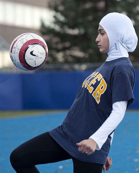 montreal designer creates sleek sports hijab  star