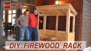 Firewood Storage Rack Plans How To Build A Firewood Rack Youtube
