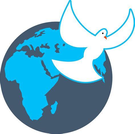 clipart domain world globe dove clip free stock photo