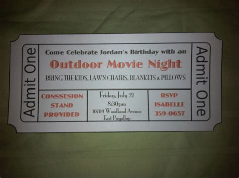 backyard movie night invitations the renaissance woman outdoor movie night
