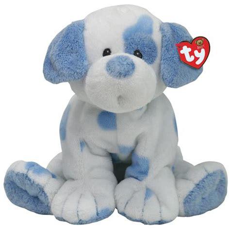 ty puppy stuffedanimals stuffed plush dogs ty baby 10 quot plush baby pups blue