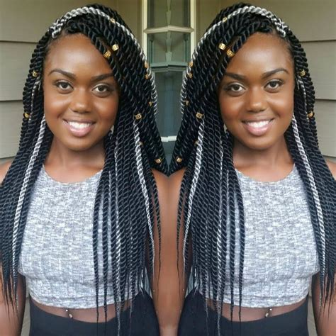 gray twist hairstyles black and gray rope twists by braidsbyguvia http
