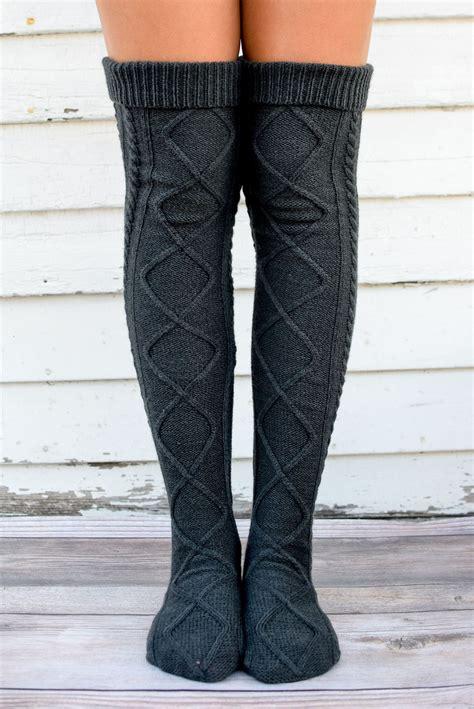 Free Knit Women Boot Sock Pattern