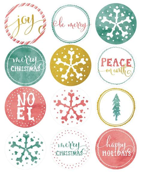 printable christmas round tags 139 best christmas printable stickers labels images on