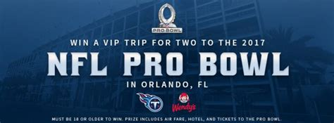 Pro Bowl Sweepstakes - sweepstakeslovers daily gq wendy s bloomington more
