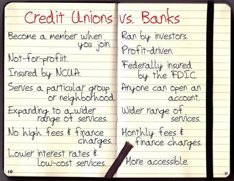 bank or credit union credit union vs big banks broke2dope