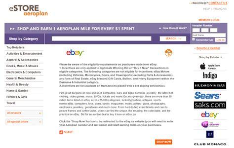 ebay bucks canada ebay 5x via aeroplan estore and targeted ebay bucks 5x