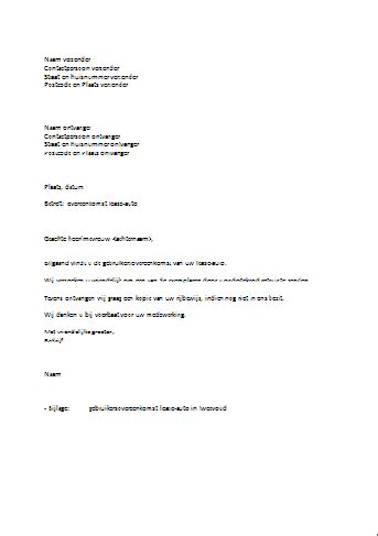 brief opstellen datum voorbeeld begeleidende brief
