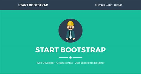 template bootsrap freelancer one page theme start bootstrap
