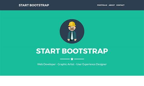 free bootstrap portfolio themes templates start bootstrap