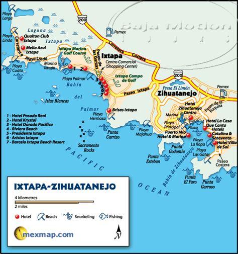 map of mexico showing ixtapa mexico map ixtapa