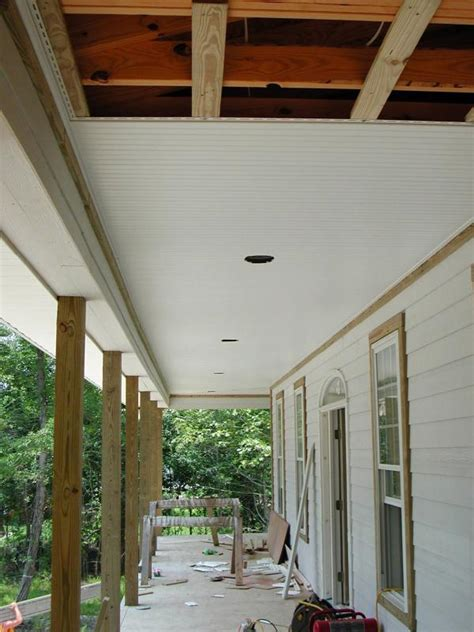 the front porch ceiling nears completion photo mike