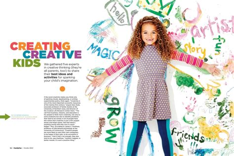 design magazine kin creating creative kids in familyfun magazine 187 www