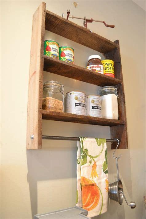 Wall Spice Shelf by Wall Shelf Spice Rack Pot Rack Reclaimed Wood