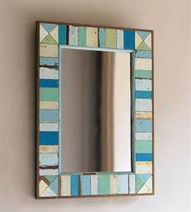 Shell Bathroom Mirror - boatwood mirror eclectic mirrors my dream beach house