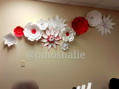 Handmade Wall Decorations - handmade paper flower collage wall decor 54artistry