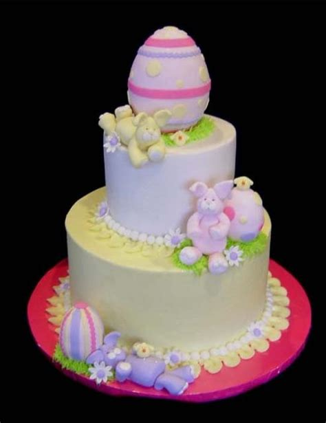 easter cake designs with eggs and bunnies jpg