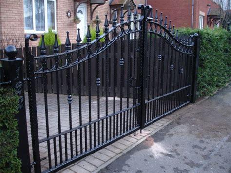 beautiful black wrought iron driveway gate for iron fence