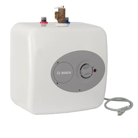 Small Water Heaters Electric Home Depot Bosch 4 Gal Electric Point Of Use Mini Tank Water Heater