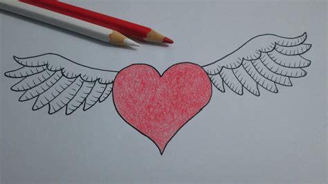 imagenes de corazones alas corazones con alas dibujo www imgkid com the image kid