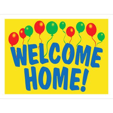 Aluminum Welcome Home Amenity Sign Balloons 24 X 18 Hd Supply Welcome Home Banner Template