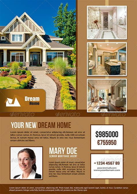 real estate hairstyles 4 styles real estate flyer by enem graphicriver