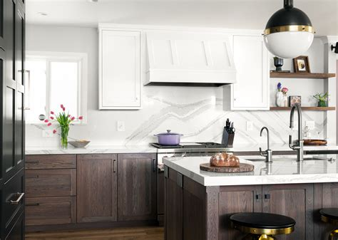 eclectic transitional kitchen crystal cabinets