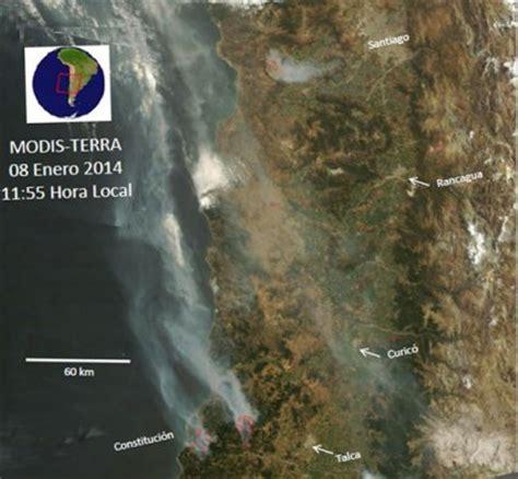 imagenes satelitales chile fotos imagen satelital de las nubes de humo en la zona
