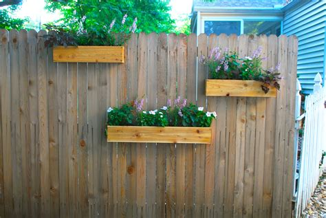 Planters On Fence by Hanging Planter Boxes Using Reclaimed With Various Flower