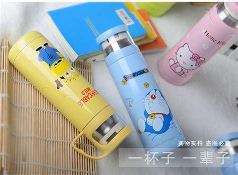 Murah Thermos Botol Hello Doraemon Tutup Clip Tokoasiaku Jual Tumbler Botol Minum Termos Kartun 500ml