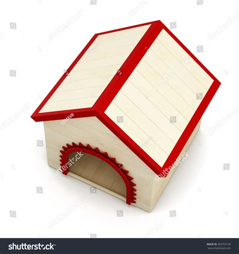 dog house background dog house isolated on white background top view 3d rendering stock photo 403753129