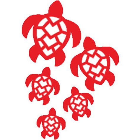 Turtle Family Car Stickers