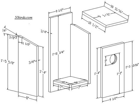Screech Owl House Plans Nestbox Plans And Dimensions For Kestrel Eastern Screech Owl Western Screech Owl Barrow S