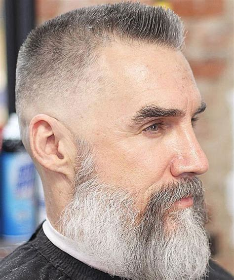 mens crown thinning brush back 25 best hairstyles for older men 2018