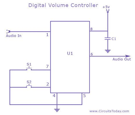 resistor networks are sometimes used as volume circuits gt circuits gt volume circuit schematic using ds 1669 potentiometer ic l37054 next gr