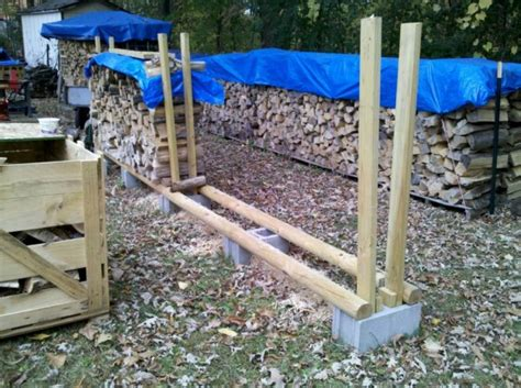 diy firewood rack cinder blocks cinder block stacking method firewood hoarders club