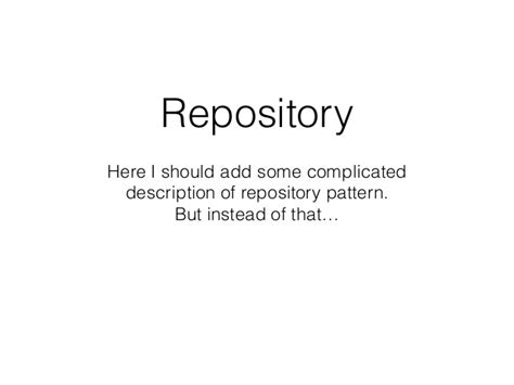 repository pattern save save repository from save