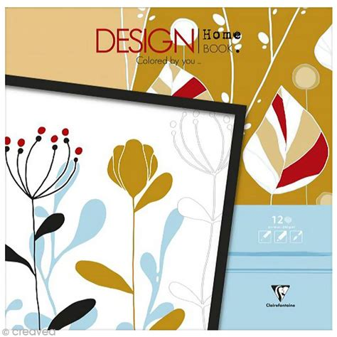 design home book clairefontaine bloc coloriage adulte clairefontaine design home book