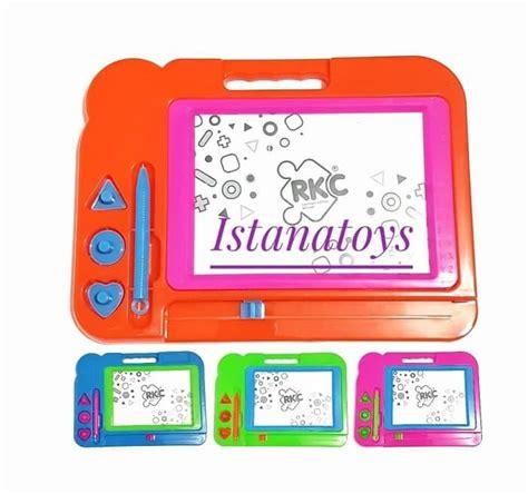 Mainan Anak Papan Tulis Magnet 45 cm x 200 cm anak tulis vinil yang dapat dilepas stiker