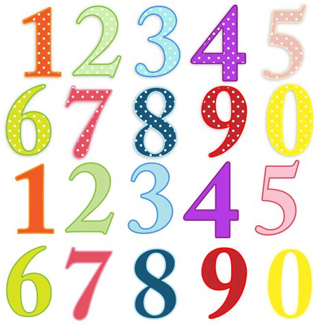 numbers clipart numbers colorful clip free stock photo domain