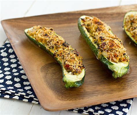 stuffed courgette recipe vegetarian vegetarian stuffed zucchini with parmesan panko recipe