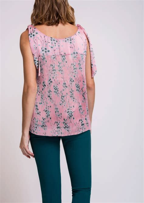 Pleated Blouse Pink pink pleated blouse